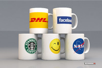 coffee mugs 3d max
