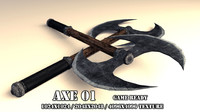 handed axe 01 3d 3ds