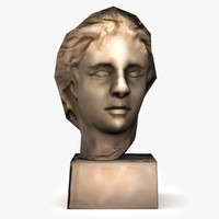 3d alexander great bust statue model