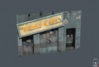 art deco cafe 3d model