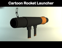 3d model rocket launcher cartoon