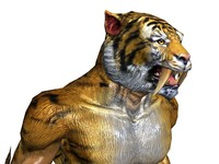 tigers saber tooth 3d model