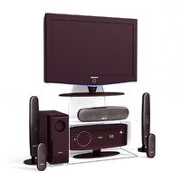 3d obj speakers plasma television