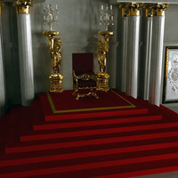 throne room 3d obj