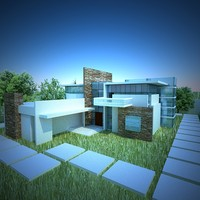 modern house 3d max