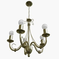 3ds chandelier lamp light