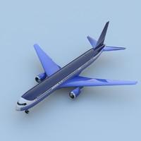 boeing 767-400 3d model