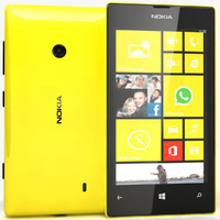 nokia lumia 520 yellow 3ds