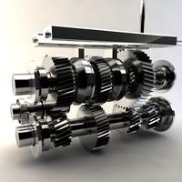 3d manual transmission model