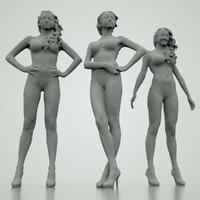 3d model girls poses