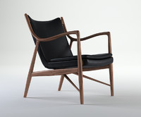 finn juhl 45 chair 3d