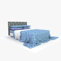c4d bed blue