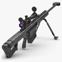 3ds max rifle barrett