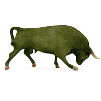 bull sculpture replica 3d model