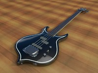 cinema4d gene simmons cort bass guitar