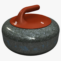 curling stone red