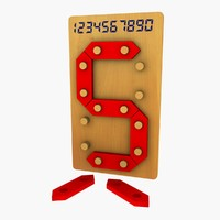3d digital number toy model