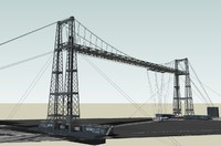 3ds max bizkaia transporter bridge architecture