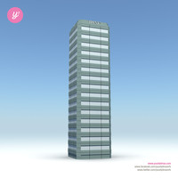 3d skyscraper 10 day night model