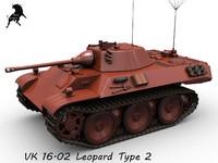 3d leopard vk 16 model