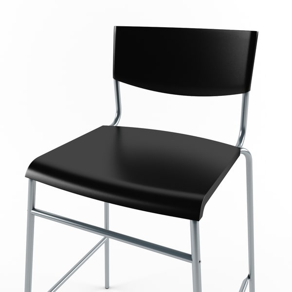 ikea stig bar stool 3d obj