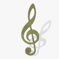 3d model treble clef fg