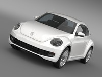 volkswagen car 3d model