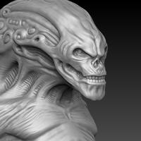 bust alien 3d model
