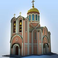 3d church model