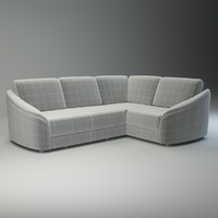 basic corner sofa donata 3d model