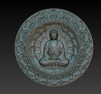 obj buddha relief