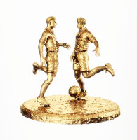 statuette of a football player
