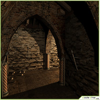 Low Poly Medieval Secret Labyrinth