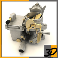 3d model car carburetor