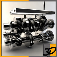 manual transmission 3d model