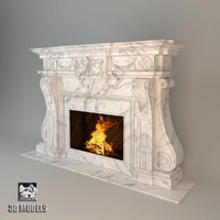 3d model fireplace artworks art