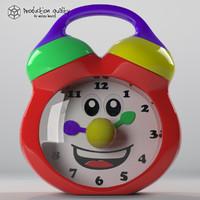 3d model toy clock
