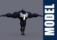 3d model venom modeled