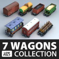 max wagon set cargo polys