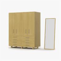 3d max closet maple wood