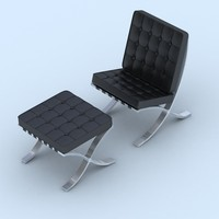3d model barcelona chair