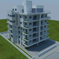 buildings 1 3 3d model
