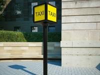 taxi signs 3d max