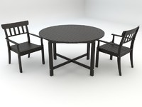 ikea angso series outdoor round table and armchairs