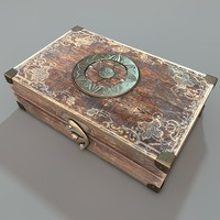 antique travelling case 3d obj