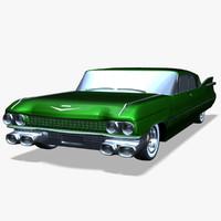 3d 1959 cadillac car