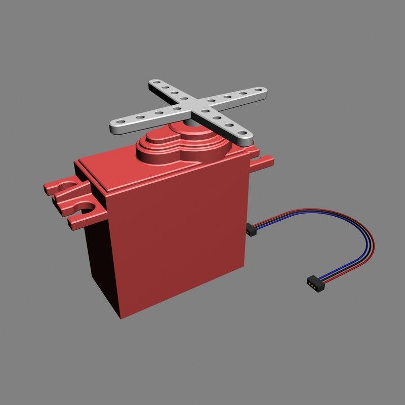 3d Model Of Servo Motor