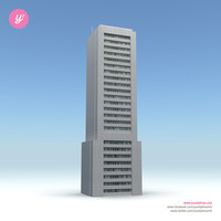 3d model skyscraper 22 day night