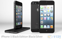 3d model apple iphone 5 black