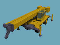 basic truck-mounted crane 3d obj